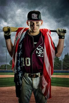 Baseball- american flag and bat from spring hill high school raider jb Baseball Senior Pictures, Senior Year Pictures, Baseball Photos, Sports Photos, Senior Photos, Senior Session, Graduation Pictures, Senior Posing, Graduation Ideas
