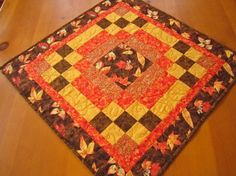 #PatchworkMountainArtfire on Artfire                #table                    #Quilted #Square #Table #Topper #Fall #Colors       Quilted Square Table Topper Fall Colors                                       http://www.seapai.com/product.aspx?PID=1548849