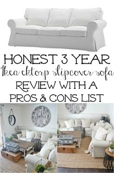 Wow! This Ikea slipcover sofa review has been coming for almost 3 years now. Everyday I get questions about our slipcovered Ikea Ektorp sofas & whether or not we like them. I think I kept waiting to review them because I wanted a substantial amount of time with them before I gave my honest review. …