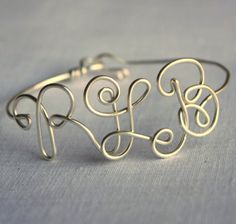Lovely monogram bangle!  Hey, it's my initials!
