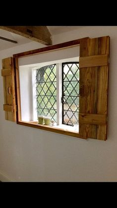 Made to Measure Rustic Window Shutters - Made to measure window shutters. Price is variable depending on size and finish. Perfect for indoor - Doors Interior, Shutters Exterior, Window Shutters Exterior, Decor, Wood Doors Interior, Window Shutters Indoor, Wooden Window Shutters, Rustic Window, Shabby Chic Bathroom