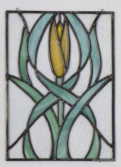 "Art Nouveau Tulip, 7.25"" x 10"".  A small and simple yet intriguing panel."