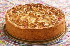"""Carolines blog: Rabarbertaart van """"tante Liesbeth"""" Pie Cake, No Bake Cake, Cake Cookies, Cupcake Cakes, Fudge, Belgian Food, Bistro Food, Rhubarb Recipes, Sweet Pie"""
