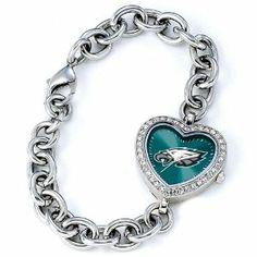 Ladies NFL Philidelphia Eagles Heart Watch Jewelry Adviser Nfl Watches. $60.00