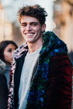 Street style Fashion Week homme automne hiver 2017 2018 de Milan