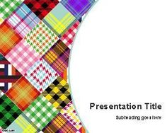 FREE PowerPoint Templates-WOW!!! These are so cool!!!  There are hundreds, maybe thousands of PowerPoint backgrounds, to choose from! This picture is one of my favorites: Colored Fabrics PowerPoint Template PPT Template.  CHECK IT OUT!