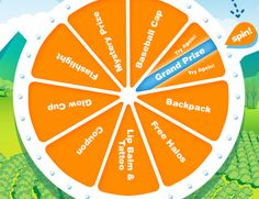 """Spin the Halo's """"Wheel of Goodness"""" for a chance to instantly win awesome prizes or the grand prize of $1000!  Good luck!"""