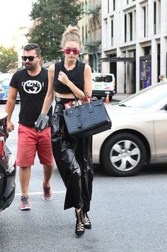 It Looks Like Gigi Hadid Just Wore Her Sister's Crop Top Inside Out