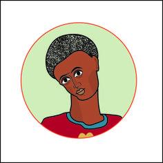 Hilda Souto. Negro. Ilustração digital para site.