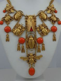 Antique Jewellereys: Egito  Gold,coral #GoldJewellerySummer