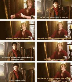 """""I am the king of Camelot. I do not have to answer to the likes of you."" Oh, Arthur..."""
