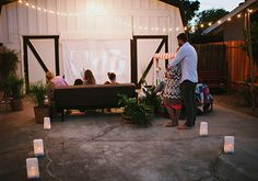 30 Ways to celebrate spring with your family | Oh Lovely Day on Momtastic (outdoor movie night by @Jesi Haack Design)