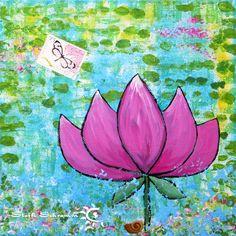 Lotus Acryl auf Leinwand