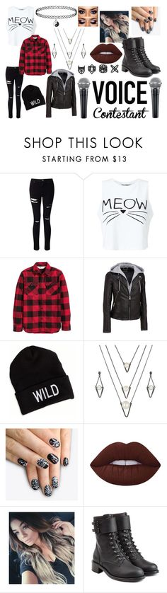 """""""Voice Contest"""" by rac-ren ❤ liked on Polyvore featuring Miss Selfridge, H&M, Wilsons Leather, American Eagle Outfitters, BERRICLE, Topshop, alfa.K, Lime Crime and Philosophy di Lorenzo Serafini"""
