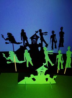 Zombies-Shadow Theater Set. $15.00, via Etsy.