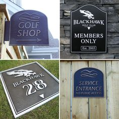 Directional Signage Golf Course Packages