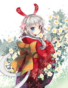 Nardack, Camellia (Flower), Floral Print, Obi, Alternate Color, Cat Tail