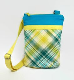 Tablet Cover Bag with Adjustable Strap - Fits Ipad Mini / 7 and 8 inch tablets / Kindle & Nook - Tartan