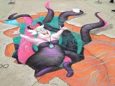 Ursula art at the #D23Expo.