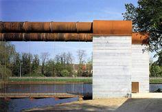 Jurg Conzett - Pedestrian bridge, Bruges 2002.