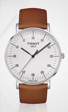 Tissot Everytime Big Quartz | Brown Leather Strap