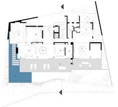 Image 11 of 14 from gallery of Kloof 151 / SAOTA. Ground Floor Plan