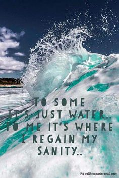 Sanity is a day at the beach Inspirational Beach Quotes; I Love the Beach quotes and sayings Sanity Water Quotes, I Love The Beach, Adventure Quotes, Florida Vacation, Ocean Beach, Beach Bum, Wanderlust Travel, Words, Instagram