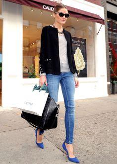 On copie son look: le style simple et chic d'Olivia Palermo