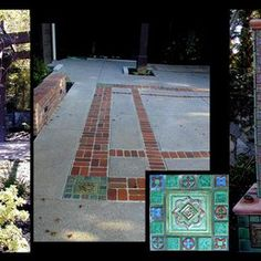 Stonelight Tile - San Jose, CA, United States. Historic Julia Morgan Foothill Club Garden Restoration and Donner Plaque