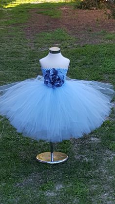 Light blue  Tutu Dress Blue Tea length by FunkidsandUsBoutique