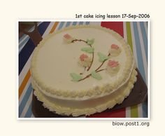 cake icing lesson..