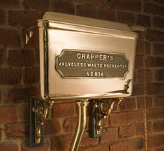 West One Bathrooms Thomas Crapper high level cistern detail Victorian Toilet, Victorian Bathroom, Art Deco Bathroom, Bathroom Interior, Pub Interior, Cuba, Thomas Crapper, Industrial Toilets, Burlington House
