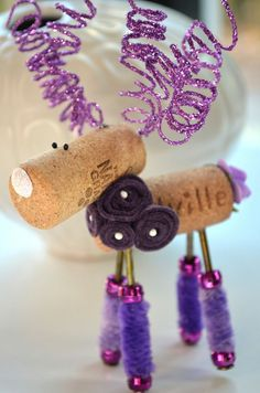 Wine Cork Reindeer Ornament