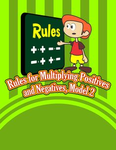 Rules for Multiplying Positives and Negatives {Integer Activity}  https://www.teacherspayteachers.com/Product/Rules-for-Multiplying-Positives-and-Negatives-Integer-Activity-1763724