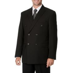 Caravelli Italy Men's Double Breasted Suit (-34S/28W)