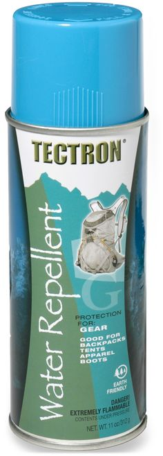 Tectron Gear Water Repellent, $10 for 11oz. For backpacks, tents, apparel, and boots.