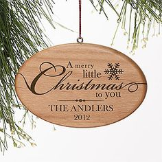 A Merry Little Christmas Engraved Ornament