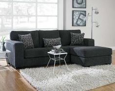 Flyer Charcoal 2 PC. Sectional Sofa Size works if ottoman dimensions are overall and not additional.