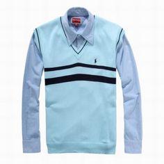 Polo Ralph Lauren Men s Strip Sweater 1012 Sky Blue Wholesale Designer  Handbags, Cheap Designer Handbags b19cf07fedc8