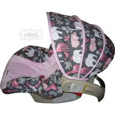 Zoology Bloom with Light Pink Infant Car Seat Cover by sewcuteinaz, $65.00