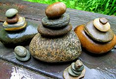 Stacked River Rocks