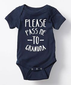 Navy 'Pass Me to Grandma' Bodysuit - Infant