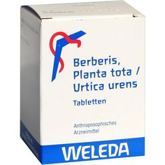 BERBERIS PLANTA tota-Urtica urens Tabletten:   Packungsinhalt: 200 St Tabletten PZN: 08524866 Hersteller: WELEDA AG Preis: 15,68 EUR…