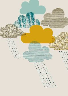 Passing Shower, limited edition giclee print. $25.00, via Eloise Renouf Etsy shop.