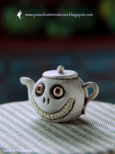 Grinny Teapot  Witchy Range by PixieDustMiniatures on Etsy, $31.00