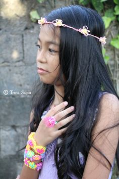 Advanced Designed Loombands - bracelets and floral crown loombands. (Magarao, Philippines)