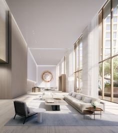 At The Eleventh, Bjarke Ingels's Two Towers Boast Interiors by Two Top-Tier Firms Photos | Architectural Digest