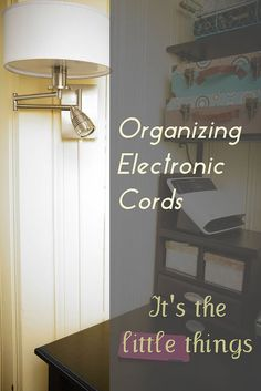 Organizing electronic cords can often be that last little detail that finally makes the room feel finished. If you want to polish to your organizing efforts, cord clutter is something to pay attention to.