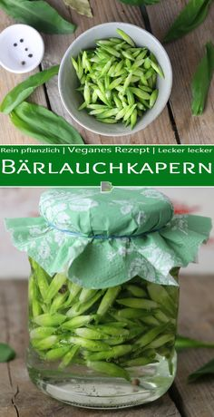 Pickled capers from wild garlic buds - Trend Innen Pflanzen 2020 Wild Garlic, Medicinal Herbs, Food Pictures, Smoothie Recipes, Green Beans, Food And Drink, Easy Meals, Yummy Food, Nutrition