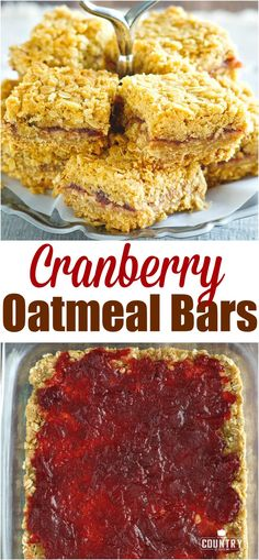 Cranberry Oatmeal Bars recipe from The Country Cook #ad #desserts #reddiamond #recipe #ideas #cranberry